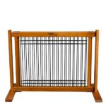 Wood and Wire Pet Gate