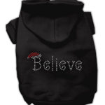 Believe Christmas Hoodie for Dogs (Black)