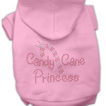 Candy Cane Princess Dog Hoodie (Pink)