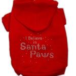 I Believe in Santa Paws Dog Hoodie (Red)