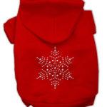 Snowflake Rhinestone Dog Hoodie (Red)