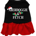 Aberdoggie Christmas Dog Dress (Red)