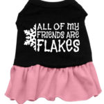 All my friends are Flakes Dog Dress (Pink)