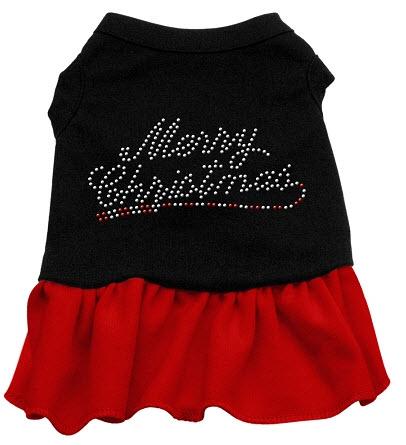 Merry Christmas Rhinestone Dog Dress