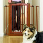 One Touch Pet Gate - Mahogany