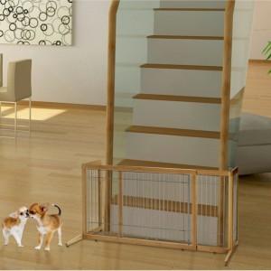 Bamboo Freestanding Pet Gate