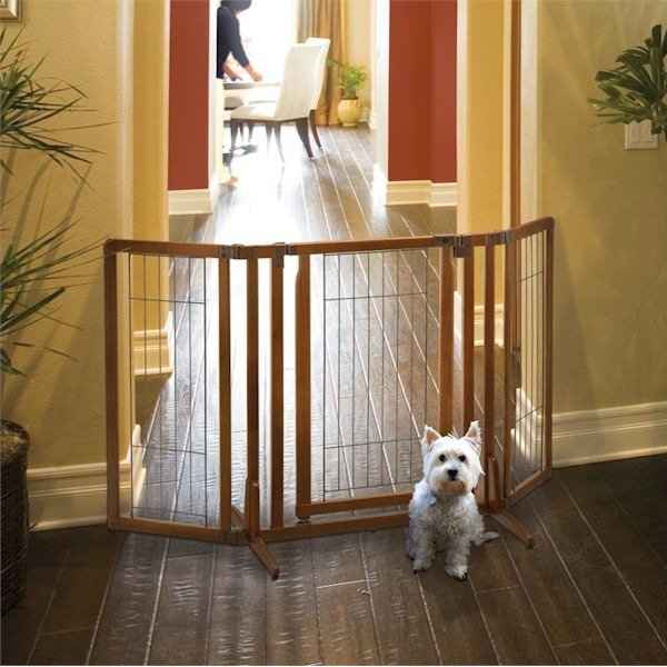 Attractive Premium Plus Freestanding Pet Gate With Door