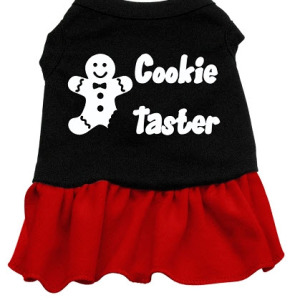 Cookie Taster Dog Dress (Red)