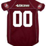 San Francisco 49ers Deluxe Dog Jersey
