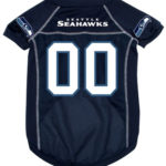 Seattle Seahawks Deluxe Dog Jersey