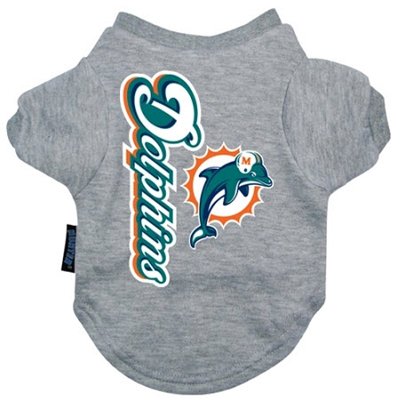 separation shoes 54383 52a26 Miami Dolphins Dog Tee Shirt
