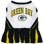 Green Bay Packers NFL Dog Cheerleader Outfit