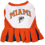 Miami Dolphins NFL Dog Cheerleader Outfit