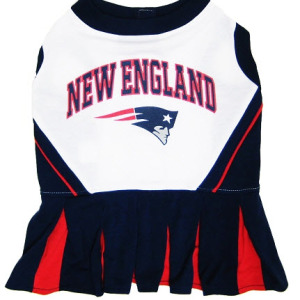 New England Patriots NFL Dog Cheerleader Outfit