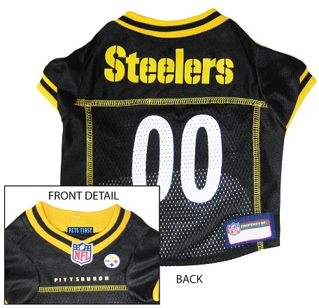 Pets First Pittsburgh Steelers Nfl Dog Jersey Medium