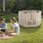 Richell Indoor Outdoor 6 Panel Playpen