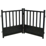 Royal Weave Freestanding Dog Gate Black