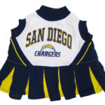 San Diego Chargers NFL Dog Cheerleader Outfit
