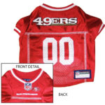 San Francisco 49ers NFL Dog Jersey