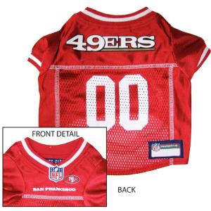 San Francisco 49ers NFL Dog Jersey