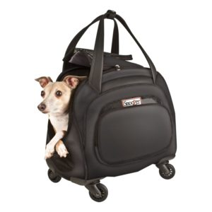 Cooper 4-Wheeled Pet Bag (Black)