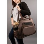 Jet Setter Pet Tote - Brown