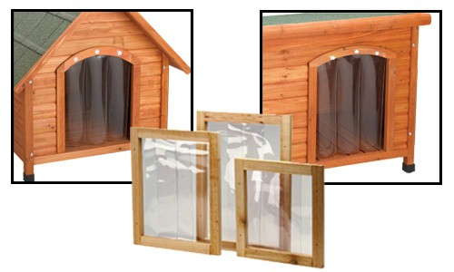 Premium plus dog house door flaps houndabout for Dog door flap material