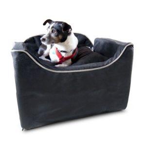 Luxury Lookout I Dog Car Seat - Black/Herringbone