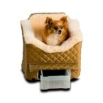Lookout II Dog Car Seat - Khaki Quilt