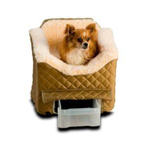 Lookout II Dog Car Seat - Khaki Quilt
