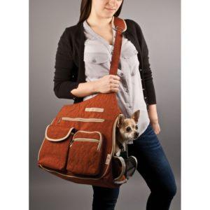 Kelsey Cross Body PetCarrier (Rust)