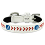 Atlanta Braves Classic Leather Toy Baseball Collar