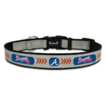 Atlanta Braves Reflective Nylon Dog Collar Size Large