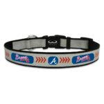 Atlanta Braves Reflective Nylon Dog Collar Size Large