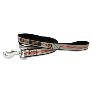 Baltimore Orioles Reflective Nylon Dog Leash Size Large