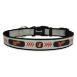 Baltimore Orioles Reflective Nylon Dog Collar Size Large