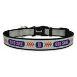 Boston Red Sox Reflective Nylon Dog Collar Size Large