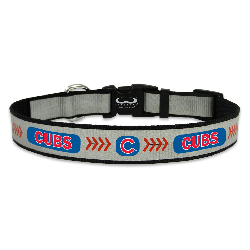 separation shoes 88550 ee4cb Chicago Cubs Reflective Nylon Dog Collar