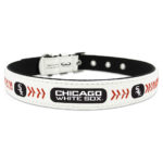Chicago White Sox Classic Leather Large Baseball Dog Collar