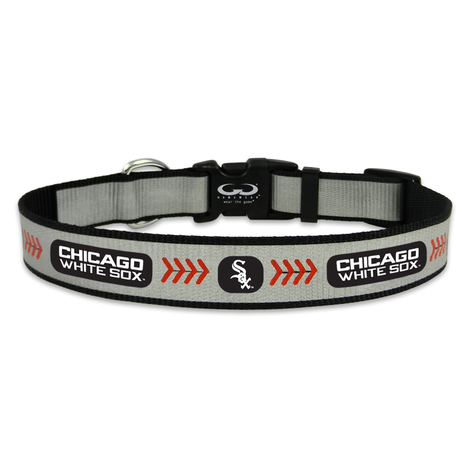 Chicago White Sox Reflective Nylon Dog Collar Houndabout