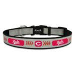 Cincinnati Reds Reflective Nylon Dog Collar Size Large