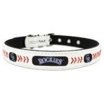 Colorado Rockies Classic Leather Large Baseball Dog Collar