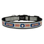 Houston Astros Reflective Nylon Dog Collar Size Large