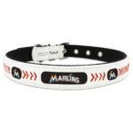 Miami Marlins Classic Leather Large Baseball Dog Collar