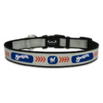 Milwaukee Brewers Reflective Nylon Dog Collar Size Large