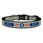 New York Yankees Reflective Nylon Dog Collar Size Large