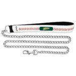 Oakland Athletics Baseball Leather Chain Dog Leash Large