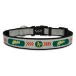 Oakland Athletics Reflective Nylon Dog Collar Size Large