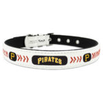 Pittsburgh Pirates Classic Leather Large Baseball Dog Collar