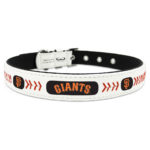 San Francisco Giants Classic Leather Large Baseball Dog Collar